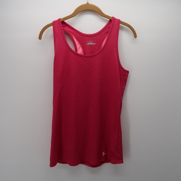 Under Armour Tops - Under Armour Pink Sleeveless Racer Back Tank Top